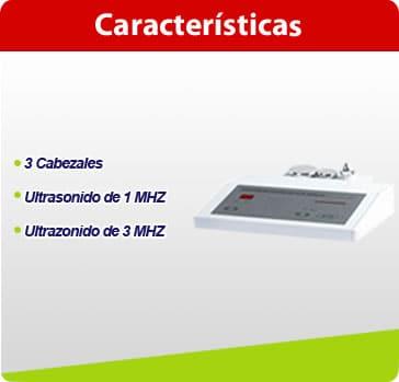 caracteristicas ultrasonido con 3 cabezales ult02