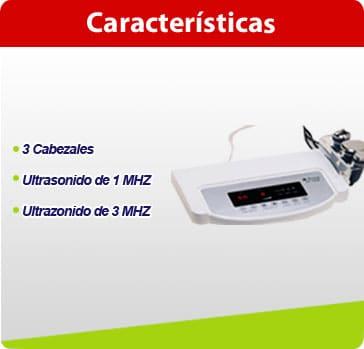 caracteristicas ultrasonido digital con 3 cabezales ult02