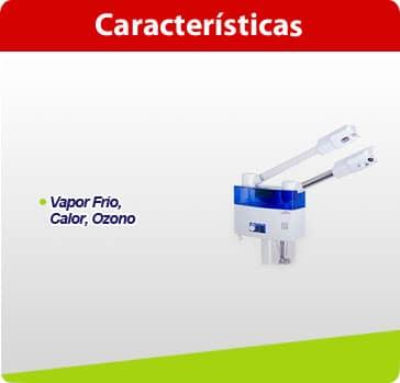 caracteristicas vapor vap02 hf vapor frio y calor ozono