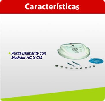 md01 microdermoabrasion plus con puntas diamante