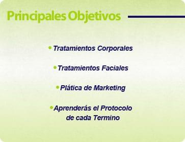 objetivos curso capacitacion de linea cosmetica